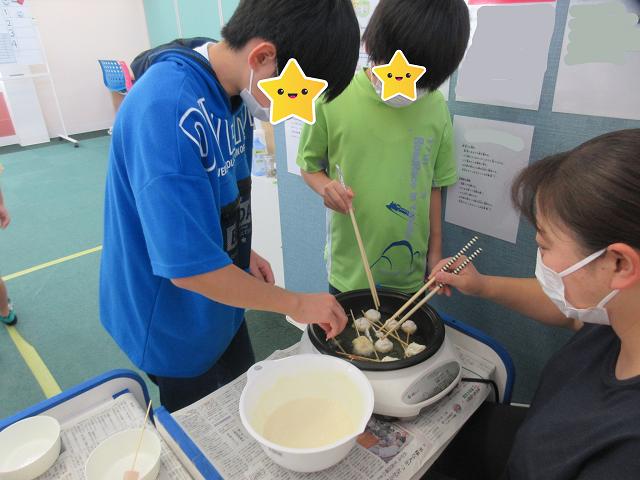 すてむぼっくす・ミニアメリカンドッグ作り♪/ 福島鎌田教室